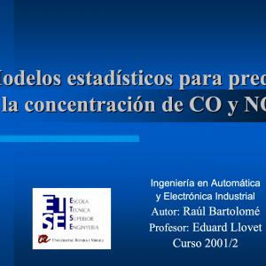 Métodos Estadísticos para Predecir la Concentración de CO y NO2
