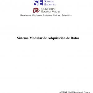 Sistema Modular de Adquisición de Datos