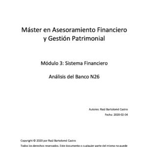 Análisis Financiero del Banco N26