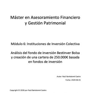 Análisis del fondo de inversión Bestinver Bolsa y creación de una cartera de 250.000€ basada en fondos de inversión